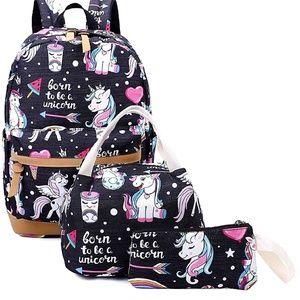 Brand New Unicorn Backpack Set